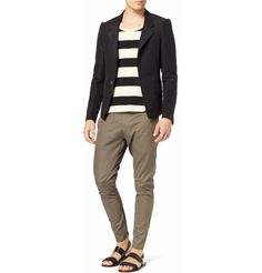 Fancy - LanvinPeak-Shoulder Pinstripe Linen-Blend Blazer|MR PORTER
