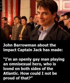 Another reason to love John Barrowman. As if we needed any more reasons to love him