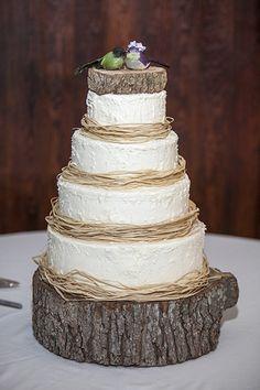 Love birds   19 Wedding Cake Ideas  Bax Photography