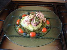 Moscardini al vapore  ,patate e  tapenade   di olive  Gino D'Aquino