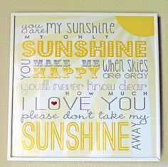 You are my sunshine printable from Designer Blogs, featured @printabledecor1