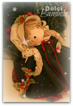 Dolci Bambole-porcellana fredda-christmas-pasta di mais