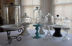 Candlesticks to pedestals - Use old candlesticks and plates to make pedestals for decorating or tabletop.