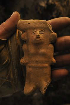 An Teotihuacan figurine of Tlaloc, god of rain and water. Location: Mexico City, Mexico.