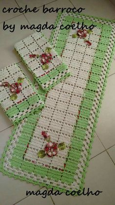 Crochet Tshirt - How to Hook Rugs. Crochet Kitchen, Crochet Home, Crochet Rugs, Crochet Potholders, Crochet Doilies, Stitch Patterns, Knitting Patterns, Crochet Patterns, Quick Crochet
