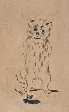 Louis Wain (1860-1939) original pen and ink sketch