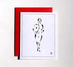Art Card  Greeting Card  Invitation  Thank You Card  by Sabastica