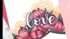 Floral Copic Colored Valentine