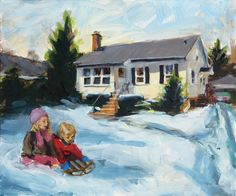 Oil painting of the Henley Street house, by Deb Anderson