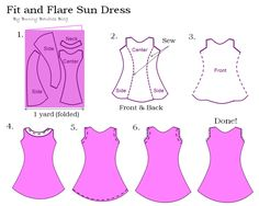 DIY Fit and Flare Sun Dress Pattern by Bunny Baubles Blog