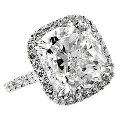 UMM YES PLEASE!! GORGEOUS - Cushion Cut 6.05 Carat DIamond Ring explore items from 1,700  global dealers at 1stdibs.com