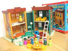 Vintage Fisher Price Sesame Street Townhouse with Box. $195.00, via Etsy.