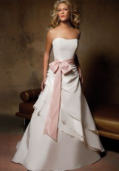 i would make the bow match whatever color theme i decided to make the wedding and my bridesmaids dresses