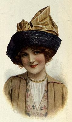 "1913 Ladies Home Journal, straw hat trim From the Board: ""Vintage & Antique Clothing""  QJ"