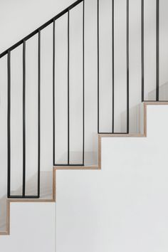 Clover Hill Residence by Ravi Raj occupies historic foundry in New York Modern Stairs Clover foundry Hill Historic occupies Raj Ravi Residence York Staircase Railing Design, Modern Stair Railing, Metal Stairs, Metal Railings, Stair Handrail, Staircase Design Modern, Stair Design, High Design, Design Design
