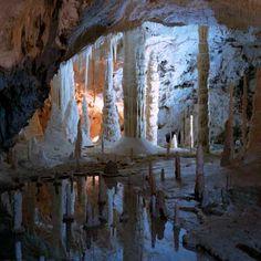 Frasassi caves, near Fabriano, province of Ancona , Marche region Italy