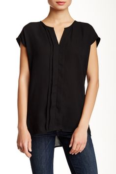 Cap Sleeve Pleat Front Blouse by Pleione on @nordstrom_rack