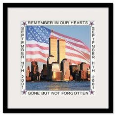 9/11 anniversary Twin Towers print.  Available Framed, or as mounted print, canvas print or poster.  Lovely way to remember New York City as it once was.