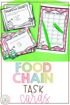 As if you already don't have enough, this must-have task card set about food chains is a no-brainer addition to your teacher toolkit! Your students will review concepts such as food chains, food webs, predators, prey, and other related topics. You can use them in a variety of different ways to engage active learning! Teaching Social Studies, Teaching Writing, Teaching Science, Food Chain Activities, Learning Activities, Upper Elementary Resources, Elementary Science, Food Webs, Teacher Toolkit