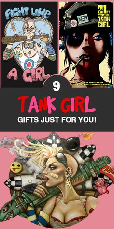 Tank Girl Gift - Tank Girl Art - Tank Girl Comic - Tank Girl Costume - Tank Girl Movie - Tank Girl Merchandise No matter if you prefer the comics or the movie, every true geek knows about Tank Girl and her awesomeness. Since you're so awesome too, we sourced 9 Tank Girl Gifts Just For You. You're welcome.