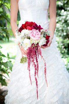 #amaranthus, #bouquet  Photography: Theo Milo Photography - theomilophotography.com Planning + Design: come+together events - cometogetherevents.com Floral Design: the bloom room - bloom-room.com  Read More: http://www.stylemepretty.com/2012/11/05/charlotte-election-themed-photo-shoot-from-theo-milo-photography/