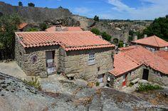 Traditional houses in Sortelha, Portugal.