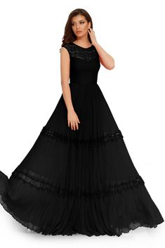 Noua colectie de rochii de ocazie Voglia.ro aduce in prim plan o colectie de rochii de seara din materiale fine. Rochia de ocazie din dantela si insertii din dantela este o rochie eleganta lunga, ideala pentru evenimentele din acest sezon. O rochie lunga, neagra, cu insertii de dantela, este o ținuta de care te vei îndrăgosti iremediabil. Mizand pe senzuala transparenta a dantelei fine de la nivelul bustului și pe textura inedită a voalului fronsat,rochia de ocazie neagra Victorian, Plus Size, Florence, Dresses, Fashion, Vestidos, Moda, Fashion Styles, Dress
