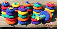I got a request to make some stacking ring toys. It was for 8 sets, to be used as wedding favours for some special little guests. I remember years ago when my children were toddlers, they had the F…