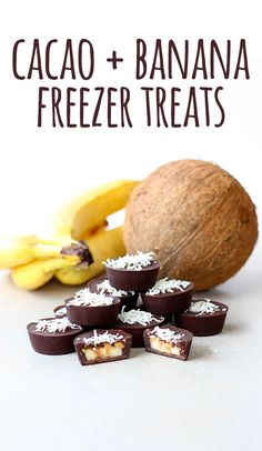 Delicious little frozen bites of banana and chocolate goodness, with a smidge of peanut butter
