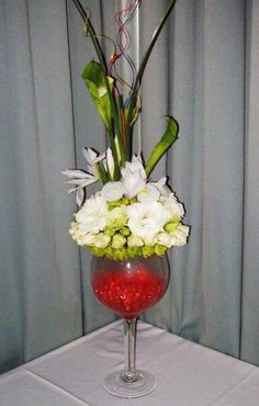 Giant Wine Glass Centerpiece For Bar Tableflowers Too