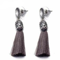 Carved Design Dangle Earrings