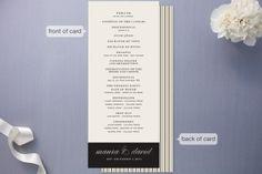 Modern Elegance Wedding Programs by annie clark at minted.com