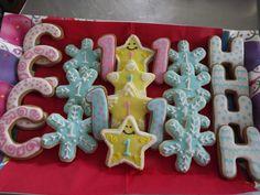 Charotte and Herman 1st Birthday Cookies.... Log House Cookies