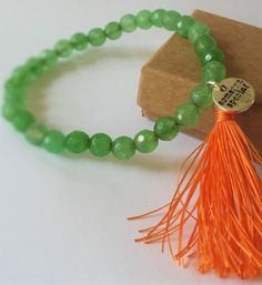 A personal favorite from my Etsy shop https://www.etsy.com/listing/254722395/beaded-bracelet-with-tassel-and-round