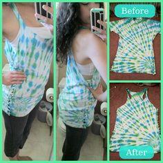 DIY tee shirt - tank top. Completed!