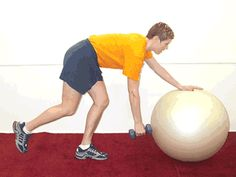 Today's Exercise: One-Arm Dumbbell Rows with Ball