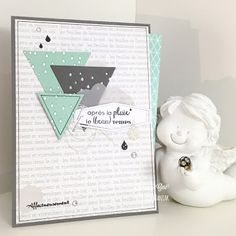 Le blog de Scrappy Géri: DT Carte Maniak challenge #116: condoléances * Emotions Cards, Black And White Theme, Beautiful Handmade Cards, Triangle Pattern, Masculine Cards, Stamping Up, Blog, Diy Cards, Birthday Cards