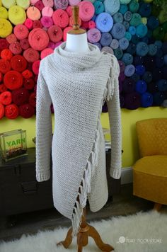 Blanket Cardigan crochet pattern for women sizes small - 3xl