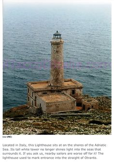 my affectation for lighthouses: Italy, Adriatic, entrance to the straight of Otranto.