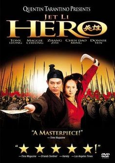 Jet Li is the fearless, nameless soldier in HERO. Great scenery, lots of action. All Jet Li. A film by Quentin Tarantino Dolby Digital, Quentin Tarantino, Hero Movie, I Movie, Movie List, Hero Jet Li, Assassin, Karate, Kung Fu Movies