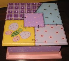 Daniela. Mosaic Furniture, Funky Furniture, Painted Furniture, Decoupage Box, Toy Boxes, Ideas Para, Office Supplies, Frame, Projects