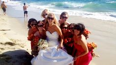 Another great bride and bridesmaids picture on the beach in La Jolla, CA.
