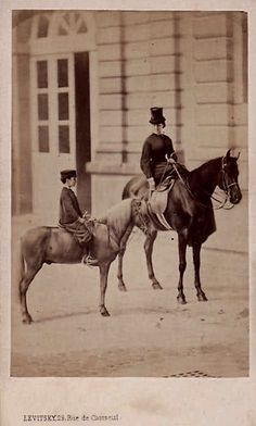 Undated-Empress Eugenie & the Prince Imperial