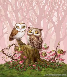 Owl Love by LiaSelina Pinned by www.myowlbarn.com
