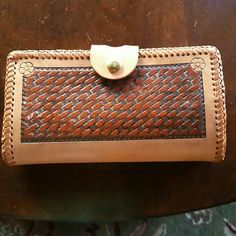 Hand tooled Wallet. Hand tooled and dyed.  Tandy  Leather.  Made by me. Bags Wallets
