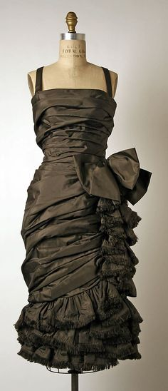 ~House of Dior (Yves Saint Laurent) Cocktail Dress, 1959-60 ~*