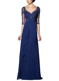 Vivebridal Women's Long Chiffon with Beadings V-Neck Mother of Party Dress Navy 8 Vivebridal http://www.amazon.com/dp/B0126UXZMG/ref=cm_sw_r_pi_dp_79ZSvb04F5CS1