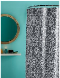 Blissliving Home HARMONY SHOWER CURTAIN, gray and white shower curtain – showercurtainhq.com #sale #shower #curtains