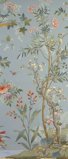 Zuber's decor chinois wallpaper Love, love, love this! For a French Indo-china retro shabby-chic bedroom......
