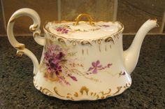 vintage limoges teapot painted in venice